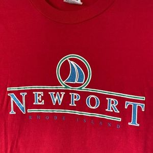 Vintage Tops - Vintage Newport Rhode Island  T-shirt